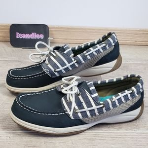 Sperry Top-Sider Navy Blue Leather Boat Shoes